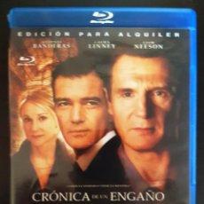 Cine: BLU-RAY CRONICA DE UN ENGAÑO (ANTONIO BANDERAS, LAURA LINNEY, LIAM NEESON). Lote 28315277