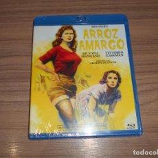 Cine: ARROZ AMARGO BLU-RAY DISC SILVANA MANGANO VITTORIO GASSMAN NUEVO PRECINTADO. Lote 288464518