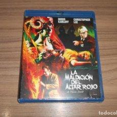 Cine: LA MALDICION DEL ALTAR ROJO BLU-RAY DISC BORIS KARLOFF CHRISTOPHER LEE NUEVO PRECINTADO. Lote 288466188