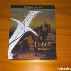 Cine: EL HOBBIT LA TRILOGÍA EDICIÓN DE CINES Y EXTENDIDA 6 DISCOS 4K ULTRA HD BLU-RAY NUEVO PRECINTADO. Lote 289703468
