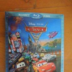 Cine: CARS-2 BLUE-RAY+DVD - CON CAJA Y CAJA DE CARTON. Lote 289785003