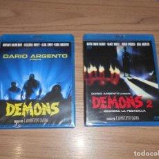 Cine: DEMONS 1 Y 2 TERROR 2 BLU-RAY DISC DE DARIO ARGENTO NUEVO PRECINTADO. Lote 295044048