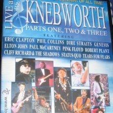 Cine: LIVE AT KNEBWORTH- ROCK CONCERT. Lote 8659466