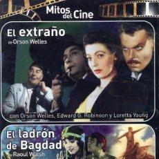 Cine: EL EXTRAÑO DE ORSON WELLES Y EL LADRÓN DE BAGDAD DE RAOUL WALSH. Lote 10078273