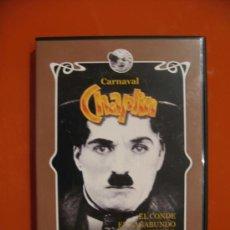Cine: CHARLES CHAPLIN CARNAVAL - EL CONDE EL VAGABUNDO EL BOMBERO DETRÁS DE LA PANTALLA 100 MIN DVD RARE. Lote 26664417