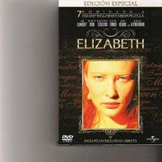 Cine: ELIZABETH - EDICION ESPECIAL - INCLUYE UN EXCLUSIVO LIBRETO. Lote 18172237