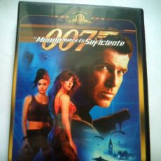 Cine: DVD JAMES BOND. 007. EL MUNDO NUNCA ES SUFICIENTE. Lote 27385643