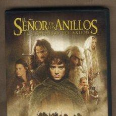 Cine: DVD EL SEÑOR DE LOS ANILLOS. LA COMUNIDAD DEL ANILLO.4 OSCAR EN 2001. CONTIENE DOS DISCOS.. Lote 26529985
