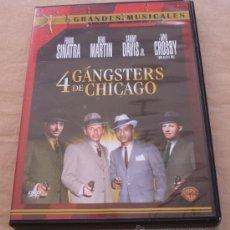 Cine: 4 GANGSTERS DE CHICAGO - FRANK SINATRA, DEAN MARTIN, SAMMY DAVIS JR., BING CROSBY -GRANDES MUSICALES. Lote 21302218