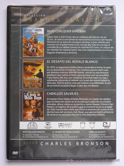 Cine: DVD Clasicos Charles Bronson El desafio del bufalo blanco, Bajo Cualquier Bandera, Caballos salvajes - Foto 2 - 21736007