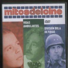 Cine: MITOS DEL CINE: LA TIERRA PROMETIDA, VIDAS AMBULANTES, DIVISION BOLA DE FUEGO.. Lote 22813866