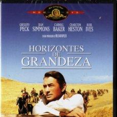 Cinema: HORIZONTES DE GRANDEZA - DE WILLIAM WYLER CON GREGORY PECK, JEAN SIMMONS (PRECINTADA). Lote 24414190