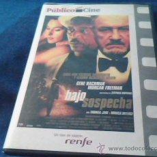 Cine: BAJO SOSPECHA. DVD DE LA PELICULA DE STEPHEN HOPKINS. CON GENE HACKMAN Y MORGAN FREEMAN.. Lote 24497140