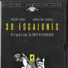 Cine: UXD 39 ESCALONES DVD INTRIGA ESPIONAJE ALFRED HITCHCOCK ROBERT DONAT MADELEINE CARROLL FILMAX VIDEO. Lote 27447584