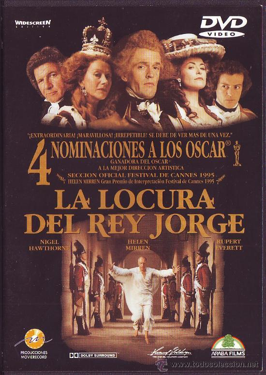 LA LOCURA DEL REY JORGE DVD DRAMA HISTORICO OSCAR NICHOLAS HYTNER NIGEL HAWTHORNE INGLATERRA ENFERME (Cine - Películas - DVD)