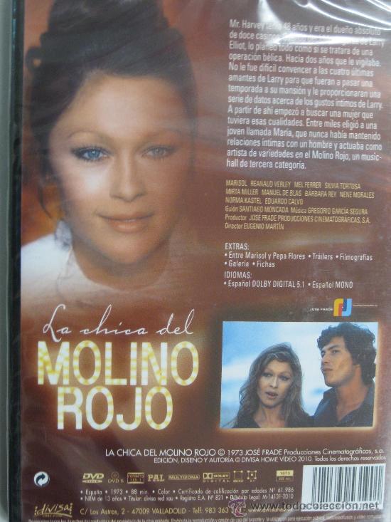 Cine: DVD LA CHICA DEL MOLINO ROJO -MARISOL-PRO. MANUEL GOYANES-CINE ESPAÑOL1973-DIVISA2010- - Foto 2 - 37054769