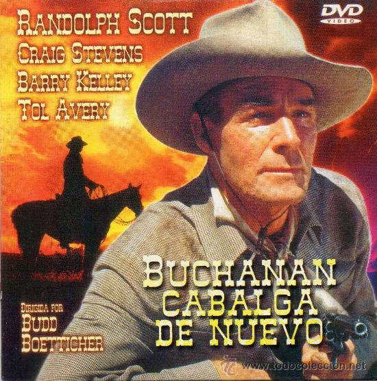 BUCHANAN CABALGA DE NUEVO, CON RANDOLPH SCOTT Y CRAIG STEVENS NUEVA. (Cine - Películas - DVD)
