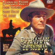 Cine: BUCHANAN CABALGA DE NUEVO, CON RANDOLPH SCOTT Y CRAIG STEVENS NUEVA.. Lote 27269683