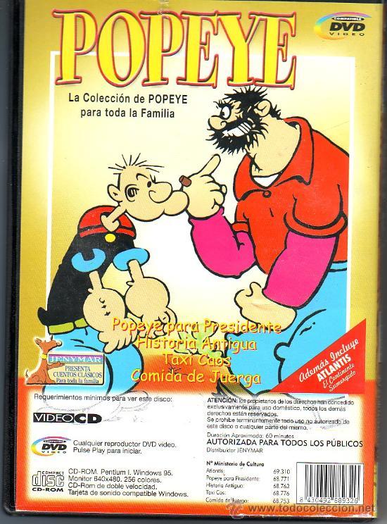 UXD AVENTURAS POPEYE Y ATLANTIS EL CONTINENTE SUMERGIDO DVD ANIMACION INFANTIL CUENTOS CLASICOS (Cine - Películas - DVD)