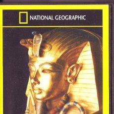 Cine: UXD NATIONAL GEOGRAPHIC LA MALDICION DE TUTANKHAMON DVD DOCUMENTAL FARAON NIÑO ASESINADO NACIONAL. Lote 28084580