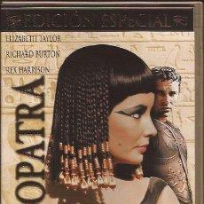 Cine: DVD-CLEOPATRA-PACK 3 DISCOS-ELIZABETH TAYLOR RICHARD BURTON--INCLUYE LIBRETO. Lote 28112419