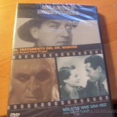 Cine: FRITZ LANG . (EL TESTAMENTO DEL DR MABUSE + SOLO SE VIVE UNA VEZ) ( DVD1). Lote 28307159
