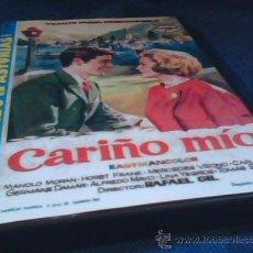 Cine: CARIÑO MIO. DVD DE LA PELICULA DE RAFAEL GIL. CON VICENTE PARRA Y MARIANNE HOLD. DE LA COLECCION ROD. Lote 219437922