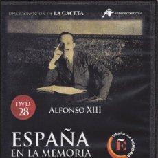 Cine: ALFONSO XIII. ESPAÑA EN LA MEMORIA. DVD Nº 28. Lote 36379322