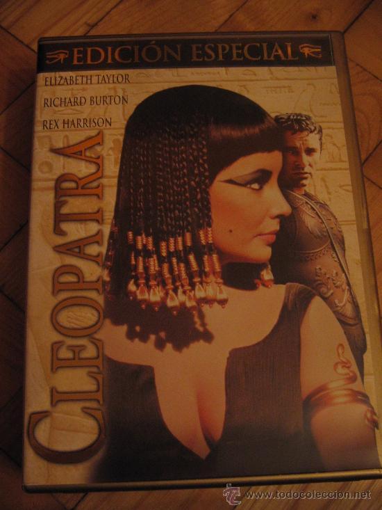 DVD CLEOPATRA 3 DISCOS-ELIZABETH TAYLOR RICHARD BURTON--INCLUYE LIBRETO (Cine - Películas - DVD)