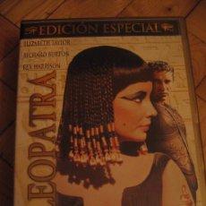 Cine: DVD CLEOPATRA 3 DISCOS-ELIZABETH TAYLOR RICHARD BURTON--INCLUYE LIBRETO. Lote 29218159