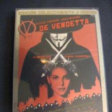 Cine: V DE VENDETTA - EDICION COLECCIONISTA - 2 DISCOS + 1 COMIC - ESTUCHE METALICO - DESCATALOGADO - . Lote 29858115