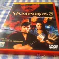 Cine: VAMPIROS 3 - PELÍCULA EN DVD - CINE DE TERROR MIEDO DESCATALOGADO. Lote 31126705