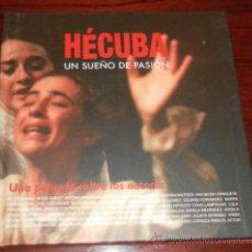 Cine: DVD --- HÉCUBA : UN SUEÑO DE PASION --- VICTORIA ABRIL, ANTONIO BANDERAS, JAVIER BARDEM, ANA BELEN... Lote 31341862