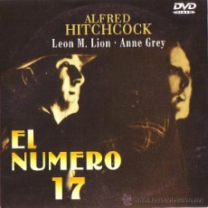 Cine: UXD EL NUMERO 17 DVD SUSPENSE INTRIGA ALFRED HITCHCOCK LEON LION ANNE GREY JOHN STUART BARRY JONES . Lote 31566129