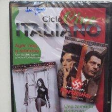 Cinema: AYER HOY Y MAÑANA / UNA JORNADA PARTICULAR. CICLO CINE ITALIANO. DVD PRECINTADO. Lote 31658192