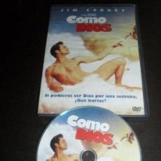 Cine: COMO DIOS. JIM CARREY. DVD. PELICULA. CASTELLANO.. Lote 31844538