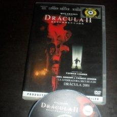 Cine: DRACULA II. 2. RESURRECCION. TERROR. DVD. PELICULA. CASTELLANO.. Lote 31922591