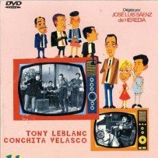 Cine: HISTORIAS DE LA TELEVISION. TONY LEBLANC CONCHITA VELASCO DVD. Lote 152548260