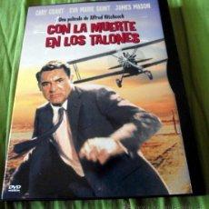 Cine: DVD CON LA MUERTE EN LOS TALONES - ALFRED HITCHCOCK 1959. Lote 32085693