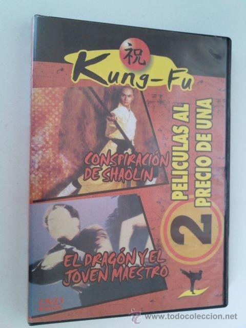 DVD NUEVO - 2X1 - CONSPIRACION DE SHAOLIN + EL DRAGON Y EL JOVEN MAESTRO - KUNG FU, ARTES MARCIALES (Cine - Películas - DVD)