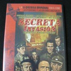 Cine: DVD SECRETA INVASION - LA II GUERRA MUNDIAL EN EL CINE. Lote 126934467