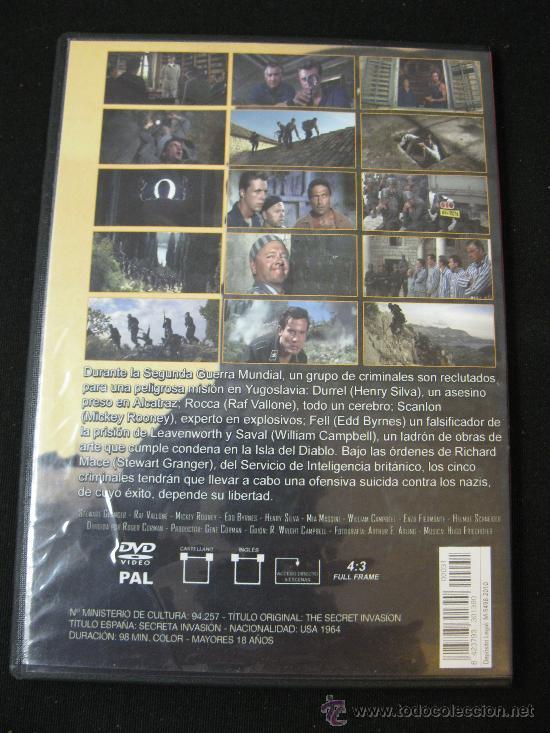 Cine: DVD SECRETA INVASION - LA II GUERRA MUNDIAL EN EL CINE - Foto 2 - 126934467