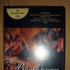 Cine: LO MEJOR DE LUDWIG VAN BEETHOVEN, 2 CD Y DÍPTICO BIOGRAFÍA CRONOLOGÍA Y OBRA. Lote 32480999