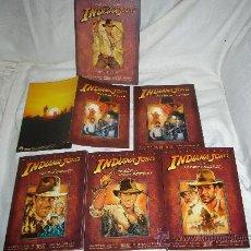 Cine: INDIANA JONES TRILOGIA EN DVD THX REMASTERIZADA 4 DVD ORIGINALES DESCATALOGADA. Lote 33208993
