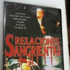 Cine: DVD RELACIONES SANGRIENTAS NUEVO-PRECINTADO. Lote 34337616