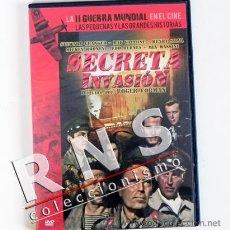 Cine: SECRETA INVASIÓN - DVD PELÍCULA BÉLICA II GUERRA MUNDIAL - MICKEY ROONEY CORMAN YUGOSLAVIA CINE. Lote 33527164