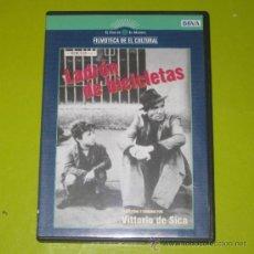 Cine: DVD.- EL LADRON DE BICICLETAS - VITTORIO DE SICA - DESCATALOGADO - DE CULTO. Lote 35832782