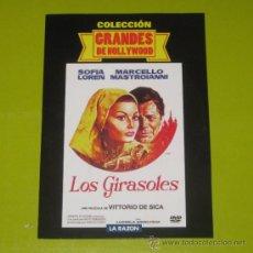 Cine: DVD.- LOS GIRASOLES - SOPHIA LOREN - MARCELO MASTROIANNI - VITTORIO DE SICA (CARATULA DE CARTON). Lote 36305239