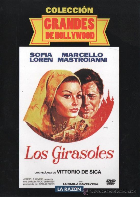 LOS GIRASOLES (1969) DE VITTORIO DE SICA, CON SOFIA LOREN, MARCELLO MASTROIANNI (NUEVA) (Cine - Películas - DVD)