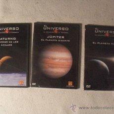 Cine: LOTE 3 DVD - EL UNIVERSO - EL COMIENZO DE LA HISTORIA - SATURNO - JUPITER - EL PLANETA TIERRA -. Lote 35300454